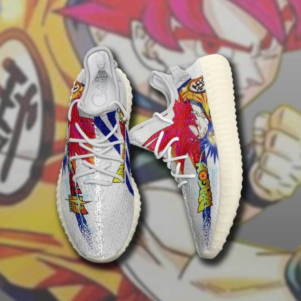 goku god super saiyan yeezy shoes dragon ball super custom anime sneakers gearanime - DBZ Shop
