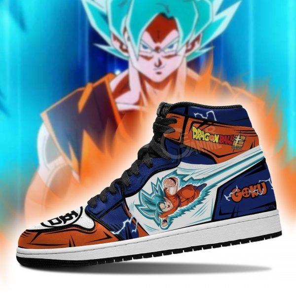 goku saiyan blue shoes boots dragon ball super anime jordan sneakers leather gearanime - DBZ Shop