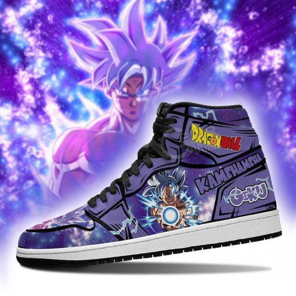 goku ultra instinct jordan sneakers dragon ball anime shoes fan mn05 gearanime - DBZ Shop