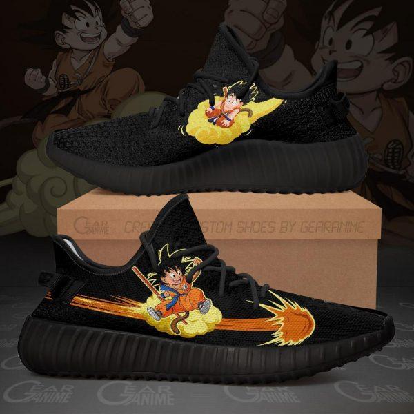 kid goku chico yeezy shoes dragon ball anime custom shoes tt10 - DBZ Shop