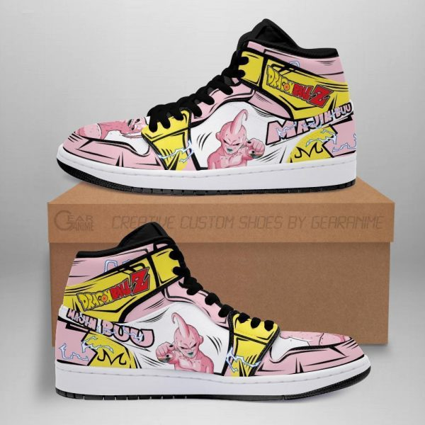skinny majin buu shoes boots dragon ball z anime jordan sneakers fan gift mn04 - DBZ Shop