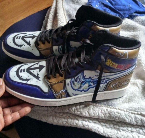 vegeta blue jordan sneakers dragon ball z anime sneakers gearanime - DBZ Shop