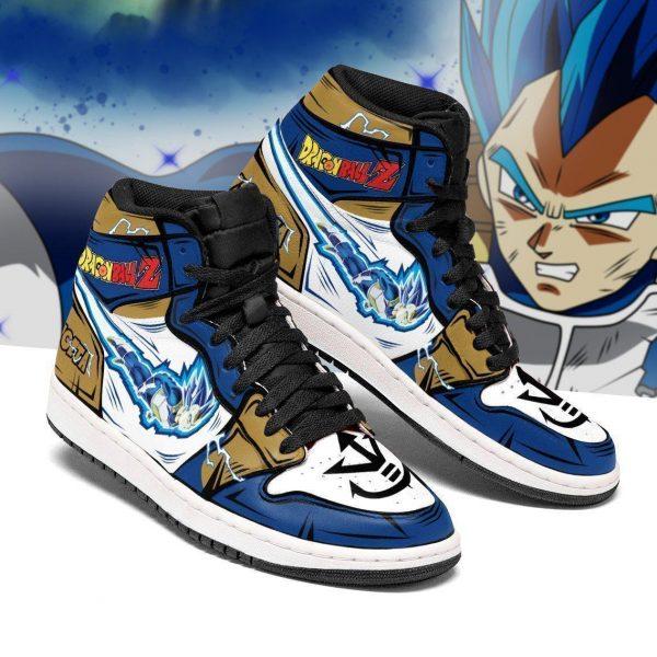 vegeta blue jordan sneakers dragon ball z anime sneakers - DBZ Shop