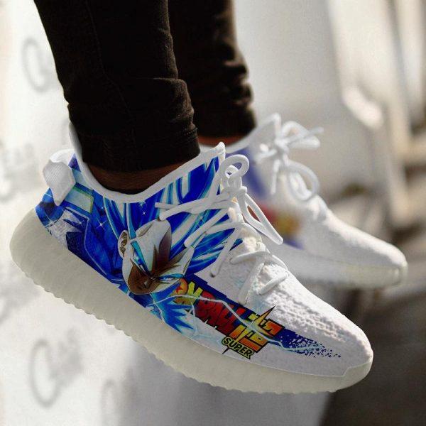 vegeta blue yeezy shoes dragon ball super anime custom sneakers gearanime - DBZ Shop
