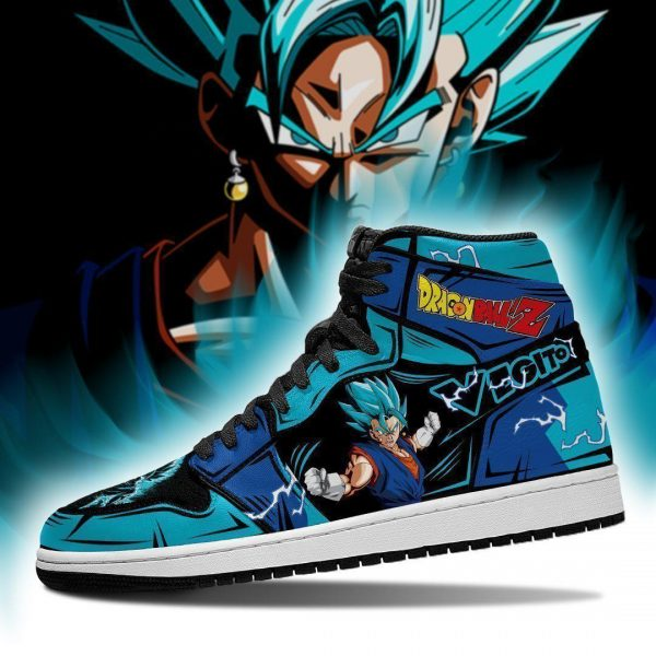 vegito blue shoes boots dragon ball z anime jordan sneakers fan gift mn04 gearanime - DBZ Shop