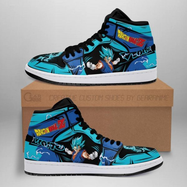 vegito blue shoes boots dragon ball z anime jordan sneakers fan gift mn04 - DBZ Shop